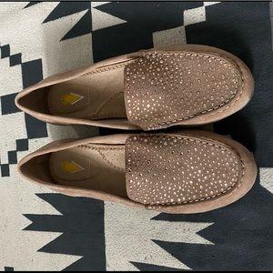 Volatile tan Rhinestone loafers